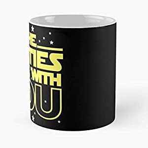 40Th Birthday Gifts May The Forties Be With You 40 Gift - Best 11 oz Kaffee-Becher - Tasse Kaffee Motive