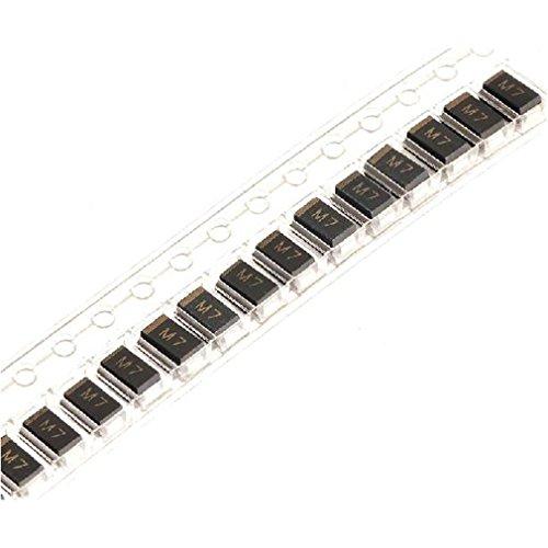 Preisvergleich Produktbild 100 neue 1N4007 IN4007 M7, SMD-Dioden, 1 A/1000 V Gleichrichter