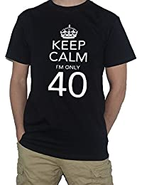 40th Birthday T-Shirt - Keep Calm I`m Only 40 by My Cup Of Tee