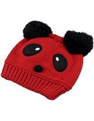 Mignon Panda Bonnet Chapeaux Casquette Crochet Tricot Chaud Hiver 5 mois à 3 ans Enfant Bébé