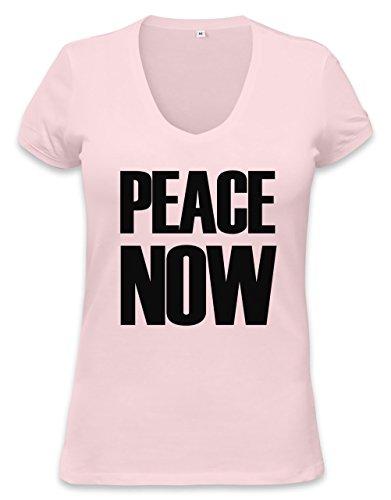 PEACE NOW Womens V-neck T-shirt XX-Large (Hippie Womens Shirt 1960)