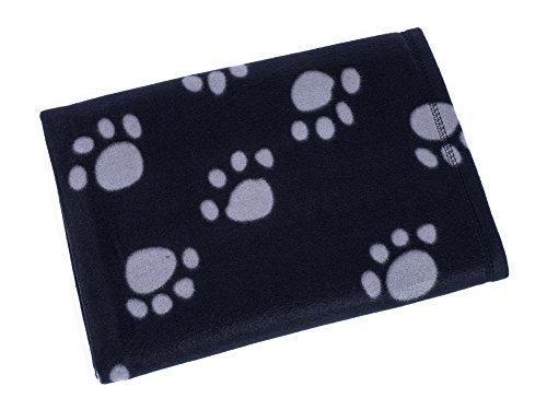 Petface Archie - Hundedecke aus Kuschelfleece mit Pfotendruck, schwarz/ -