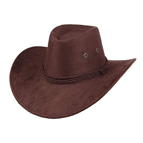 Ogquaton 1 STÜCKE Cowboyhut Kostüm Zubehör Breiter Krempe Western Cowgirl Hüte Wild West Brown
