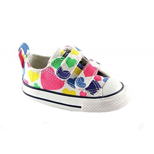 CONVERSE 748461C Weiß Weiß Baby-Schuhe All-Star- Reißen Herzen Weiß