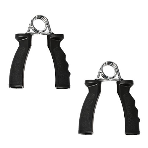 GOLD FITNESS HAND GRIPPER EXERCISE POWER GYM & FITNESS PRODUCT WITH PLASTIC HANDLE BLACK COLOUR  available at amazon for Rs.149