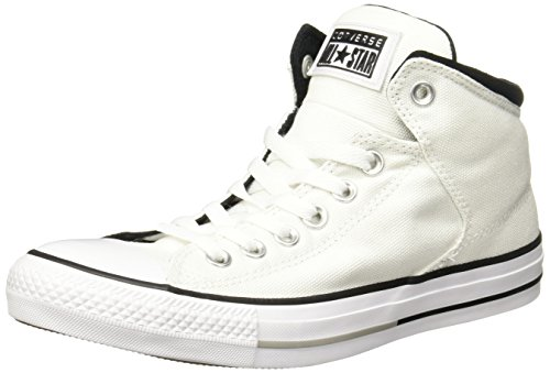 Preisvergleich Produktbild Converse Womens Chuck Taylor All Stars High Street Hi Top White Canvas Trainers 39 EU