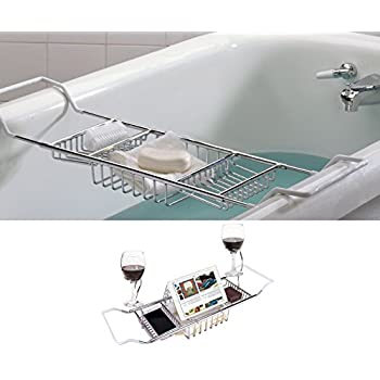 GTHUNDER Bath Caddy Over Bathtub Tray Stainless Steel Bath Tub Racks ...
