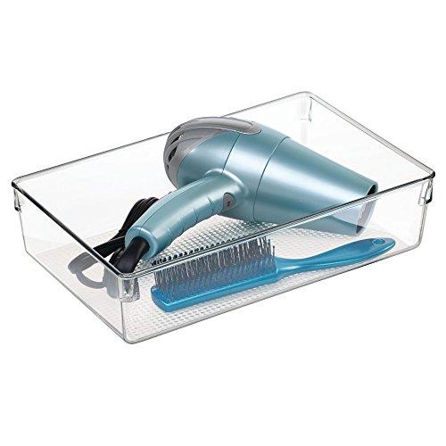 iDesign 38580EU Clarity Waschtisch-Ablage 3 Groß, durchsichtig -