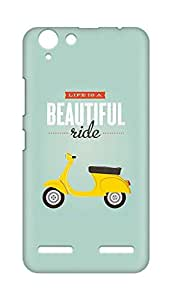 Amez designer printed 3d premium high quality back case cover for Lenovo K5 Plus (Life Text)