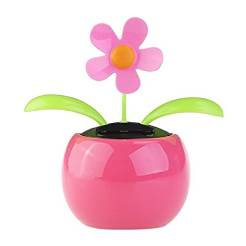 OULII Dacing fleur solaire voiture Decor Solar Powered heureux dansant Flower Pot Office Desk affiche