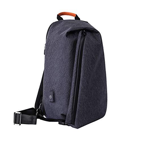 , Umhängetasche, Brusttasche, Messenger Bag, Hiking Bag Daypack Crossbody Bag Schultertasche Anti Diebstahl - Schwarz,Blue ()