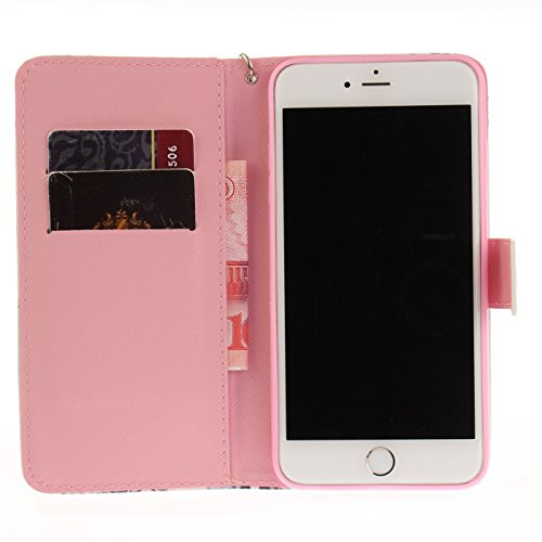 iPhone 6s Plus 5,5Zoll Schutzhülle,iPhone 6 Plus Leder Hülle,TOYYM Ultra Dünn Full Body Protection Flip Leder Wallet Brieftasche Case 3 in 1 Handytasche mit Stand Funktion Kartenfächer Magnetverschlus Bunter Traumfänger