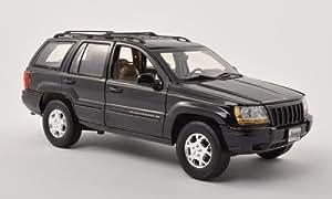 Jeep Grand Cherokee, schwarz , 2001, Modellauto, Fertigmodell, Motormax 1:18
