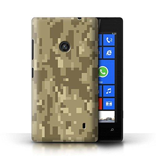 Stuff4® Hülle/Case für Nokia Lumia 520 / Brauner Cadpat Digital Muster/Militär Camouflage Tarnung Kollektion