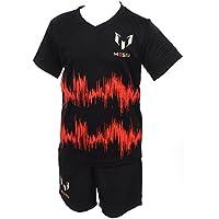 adidas I MM Messi Set - Conjunto unisex, color negro/naranja/plata, talla 80