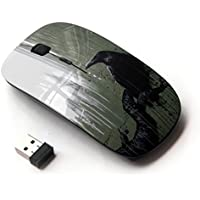 KOOLmouse [ Mouse Senza Fili Ottico 2.4G ] [ Crow City Nyc Window Rain Art Black ]