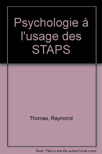 Psychologie, à l'usage des STAPS