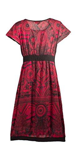 Coline - Robe courte doublée Rouge