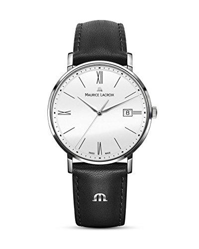 Maurice Lacroix Herren Analog Quarz Uhr mit Leder Armband EL1087-SS001-111-1