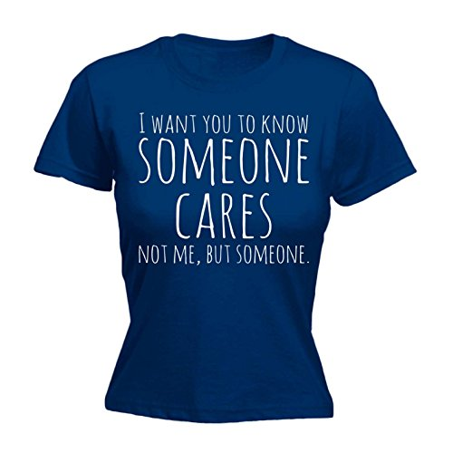 123t Women's I Want You To Know Someone Cares - Fitted T-Shirt