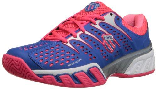 K-Swiss Bigshot II, Chaussures de tennis femme Violet (Daphne Blue/Neon Red/White)