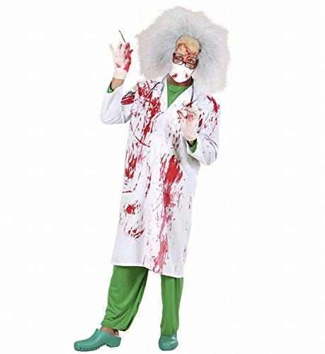 Widmann 70792 - Erwachsenenkostüm Blutiger Doktor, Blutverschmierter Laborkittel, Gröߟe M (Große Mann Halloween Kostüm Ideen)