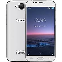 Moviles Libres Baratos, DOOGEE X9 MINI Móviles y Smartphones Libres 3G (Pantalla 5.0 IPS, MTK 6580 64 bits Quad Core, 5.0MP Cámaras, 8GB ROM, Android 6.0, Huella Dactilar, Dual SIM, Bluetooth 4.0) - Blanco
