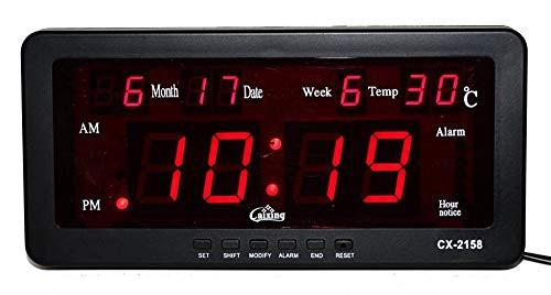 RENQIAN Reloj Despertador Led Electrónico con Fecha, Temperatura Y Mesa De Campana Semanal Reloj De...