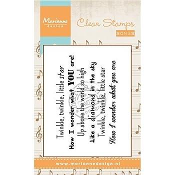 7 x 15 x 0,5 cm Marianne Design CS0995 Clear Stamps Postage Set Sillicone Noir