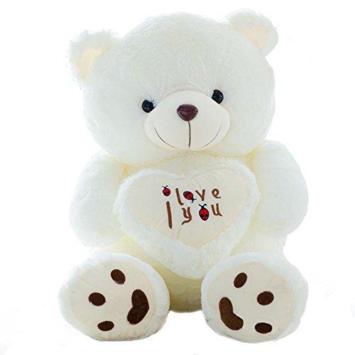 VERCART knuddeliger Plüschtiere Plüsch Sweetheart Teddybär-Spielzeug-Puppe mit Mark Ich liebe dich 90cm
