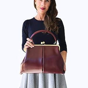 Leder Handtasche, Ledertasche