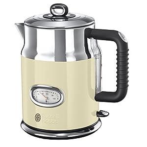 Russell Hobbs 21672-70 Retro Vintage Cream Wasserkocher mit stylischer Wassertemperaturanzeige, Schnellkochfunktion, 1.7 L, 2400 W, creme