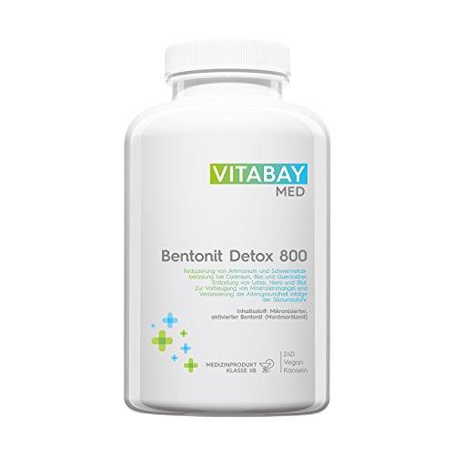 Bentonit DETOX 800 Medizinprodukt - 240 vegane Kapseln -