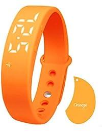 Orange : Hunpta W5 Pedometer Sleep Monitor Temperature Bracelet Smart Watch