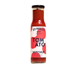 Dr Will's Tomato Ketchup 250g (Pack of 3) - All Natural, Vegan Friendly, Made with Real Tomatoes - No Artificial Additives, Preservatives or Refined Sugars, Dairy and Gluten Free