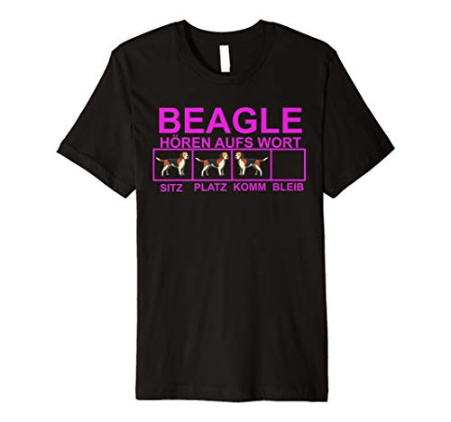 Beagle Shirt Beagle hören aufs Wort Fanshirt Beagle -