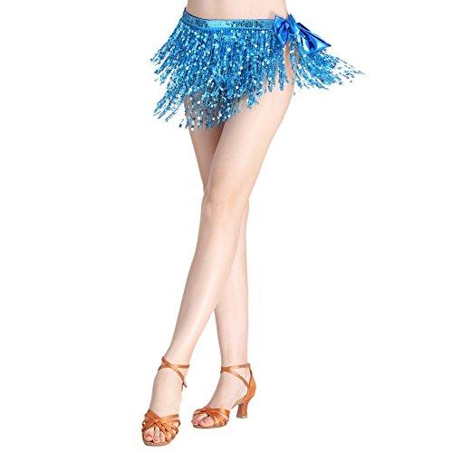 Hougood Damen Erwachsene Latin Top Bauch Indische Tanzkleid Frauen Tanz Kostüm Performance Kostüm (Mieder Funkeln)