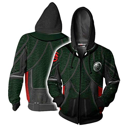 liaoting938 RWBY Unisex bedruckter Sweatshirt Kapuzenpullover Reißverschluss Hoodie Sportjacke Ruby Rose Cosplay Kostüm, How to Train Your Dragon, ()