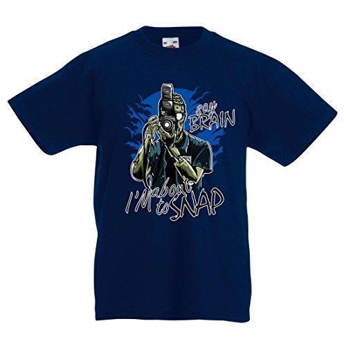 lepni.me Enfants Garçons/Filles T-Shirt Photographe de Zombi, Vêtements de journalistes, Experts en Photographie, Cadeau Humoristique (7-8 Years Bleu Foncé Multicolore)