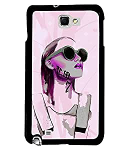 Fuson Tatto Girl Back Case Cover for SAMSUNG GALAXY NOTE 1 - D4025