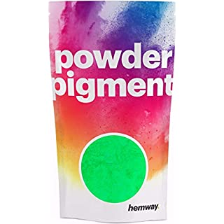 Hemway Phosphorescent/Luminous Neon Glow in The Dark Pigment Powder Dust in Yellow Colour with RESEALABLE Strong Packet - Various Sizes Available (100g / 3.5oz)