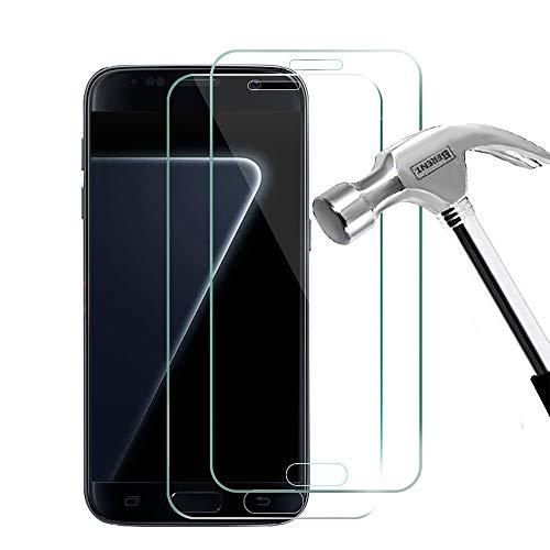 Galaxy S7 Panzerglas Schutzfolie, Samsung Galaxy S7 Panzerglas Glasfolie Schutzfolie, 2 Stück Gehärtetem Glas Panzerglas Displayschutzfolie Folie für Samsung Galaxy S7