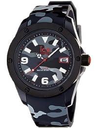 ICE-Watch - Montre Mixte - Quartz Analogique - Ice-Army - Black camouflage - XL - Cadran Noir - Bracelet Silicone Noir - IA.BK.XL.R.11