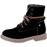 Botines para Adulto K-youth Botas Mujer Invierno Zapatos Mujer Plataforma Otoño Botines para Mujer Cálido y Cómodo Estudiante Casual Femenino Martin Botas