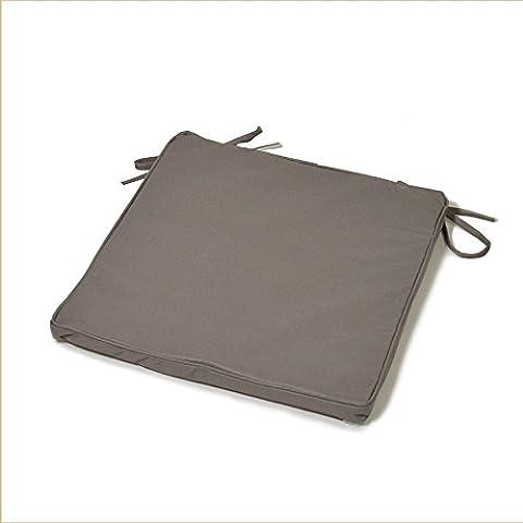 Galette de chaise couleur uni 40x40x3 cm vet, bleu, rouge, taupe, gris, anthracite, marron, rose, violet - Coussineo