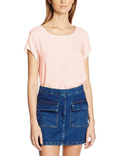 Vero Moda Boca - Débardeur - Uni - Manches courtes - Femme Rose (peach Whip)