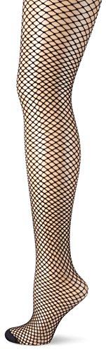 GLAMORY Damen Netz-Strumpfhose Mesh Fischnetz, Schwarz (Schwarz), XX-Large (Herstellergröße: 2XL-(52-54)) - Damen Fischnetz