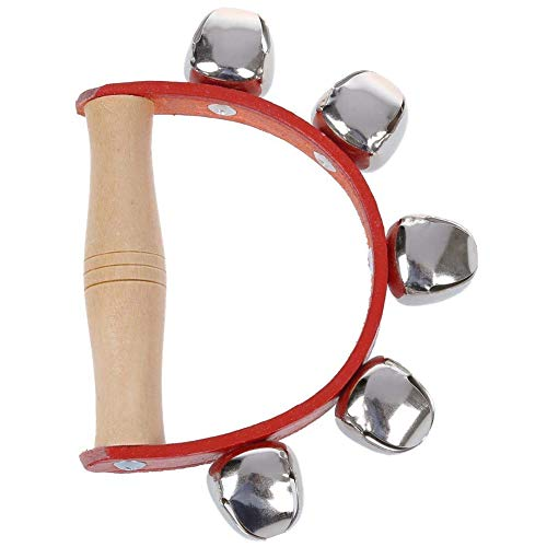 MoGist Kinder Musikinstrumente Holz Rasseln Schlaginstrument Handglocken Holz Kinder Lernspielzeug Spielzeug Hand Tambourin