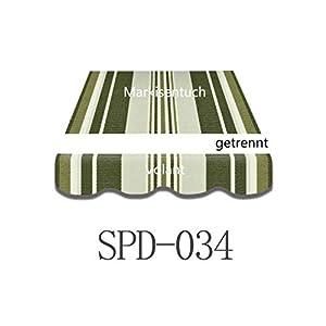 Vana deutschland GmbH Markisenstoff Markisenbespannung Ersatzstoff Plus Volant 4 x 3 m NEU fertig genäht SPD034