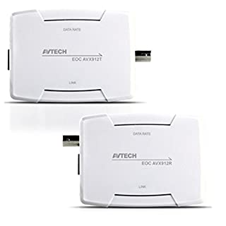 AVTech Ethernet Over Coaxial Converter 400Metre Distance! NO SETUP REQUIRED
